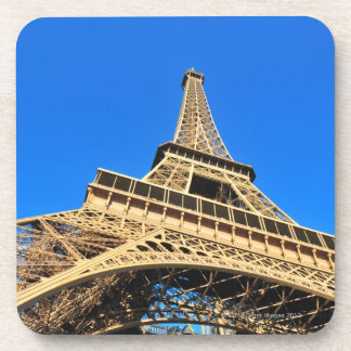 Low angle view of Eiffel Tower against blue sky Beverage Coaster