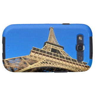 Low angle view of Eiffel Tower against blue sky Galaxy SIII Cover