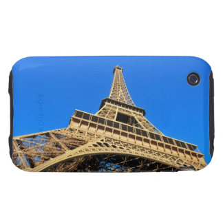 Low angle view of Eiffel Tower against blue sky iPhone 3 Tough Cases