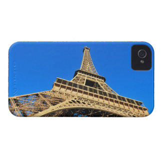 Low angle view of Eiffel Tower against blue sky iPhone 4 Covers