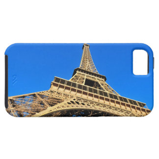 Low angle view of Eiffel Tower against blue sky iPhone 5 Case