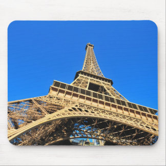 Low angle view of Eiffel Tower against blue sky Mouse Pad