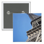 Low angle view of Eiffel Tower, Paris, France Button