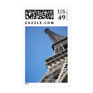 Low angle view of Eiffel Tower, Paris, France Postage Stamp