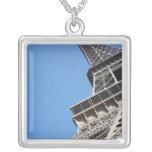 Low angle view of Eiffel Tower, Paris, France Silver Plated Necklace