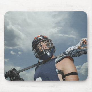 Low angle view of jai-alai player 2 mouse pad