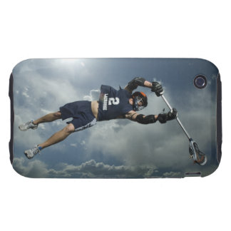 Low angle view of jai-alai player jumping tough iPhone 3 covers