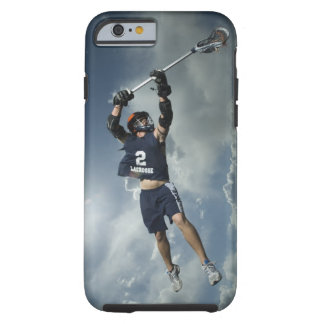 Low angle view of jai-alai player jumping tough iPhone 6 case