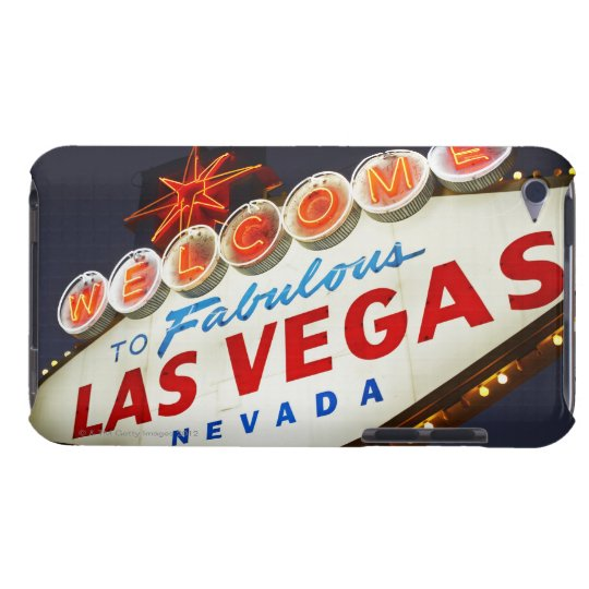 Low angle view of neon sign, Las Vegas, Nevada Barely There iPod Cover