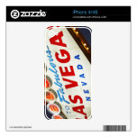 Low angle view of neon sign, Las Vegas, Nevada Decal For The iPhone 4S