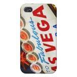 Low angle view of neon sign, Las Vegas, Nevada iPhone 4 Covers