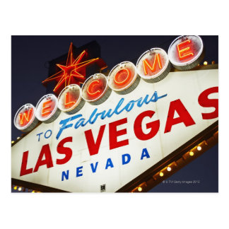 Low angle view of neon sign, Las Vegas, Nevada Postcard