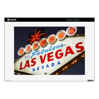 """Low angle view of neon sign, Las Vegas, Nevada Skin For 15"""" Laptop"""
