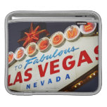 Low angle view of neon sign, Las Vegas, Nevada Sleeve For iPads