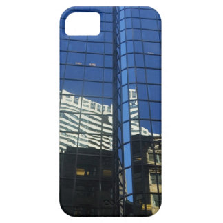 Low angle view of the reflection of buildings on iPhone SE/5/5s case