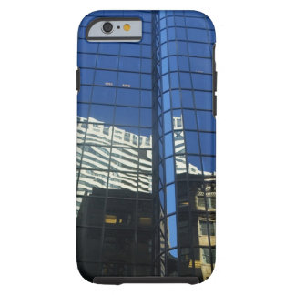 Low angle view of the reflection of buildings on tough iPhone 6 case