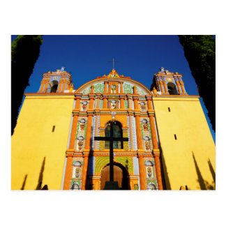 Low Angle View Of Yellow Ornate Church Postcard