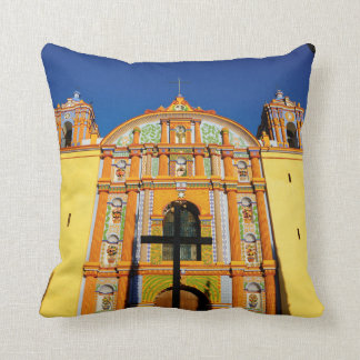 Low Angle View Of Yellow Ornate Church Throw Pillow