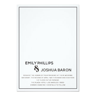 Low Bar Wedding Invitation