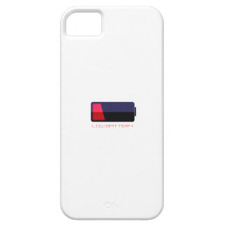 LOW Battery GEEK IPHONE 5 CASE WHITE