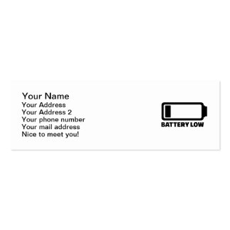 Low battery mini business card