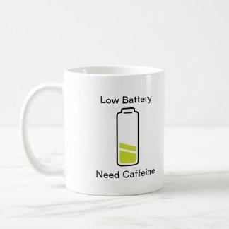 Low Battery Need Caffeine Coffee Mug