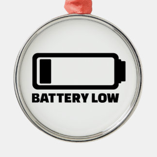 Low battery christmas tree ornaments