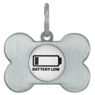 Low battery pet ID tag