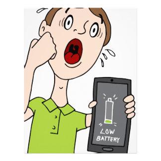 Low Battery Smart Phone Alert Letterhead