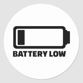 Low battery stickers