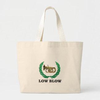 low blow tuba large tote bag