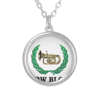 low blow tuba silver plated necklace