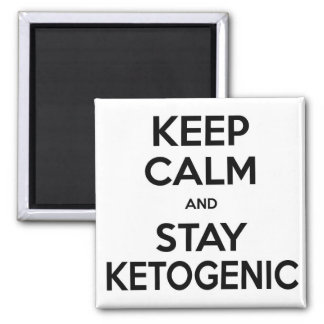 Low Carb Magnet: Keep Calm and Stay Ketogenic 2 Inch Square Magnet