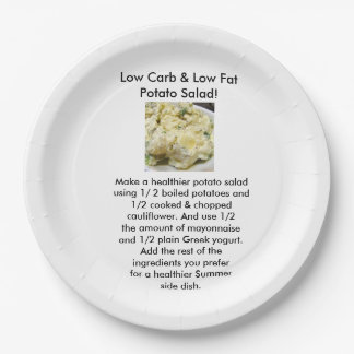 Low Carb Side Dish paper plates