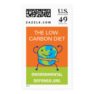 Low-Carbon Diet, EnvironmentalDefense.org Postage Stamp