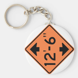Low Clearance Warning Highway Sign Keychain