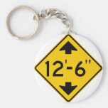Low Clearance Warning Highway Sign Basic Round Button Keychain