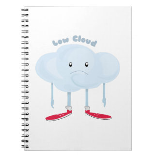 Low Cloud Spiral Note Books