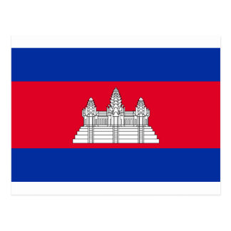 Low Cost! Cambodia Flag Postcard