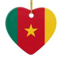 Low Cost! Cameroon Flag Ceramic Ornament