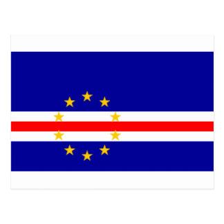 Low Cost! Cape Verde Flag Postcard