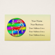 Low Cost Capricorn Rainbow Goat Zodiac Bookmark Or Business Card at Zazzle