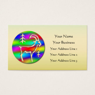 Low Cost Capricorn Rainbow Goat Zodiac Bookmark or Business Card