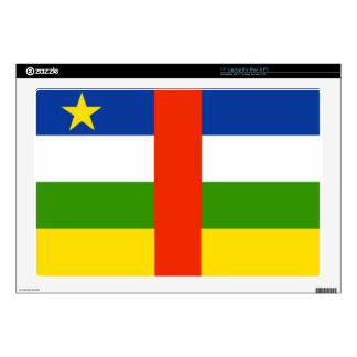 "Low Cost! Central African Republic Flag 17"" Laptop Decal"