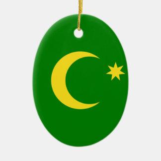 Low Cost! Cocos Island Flag Ceramic Ornament