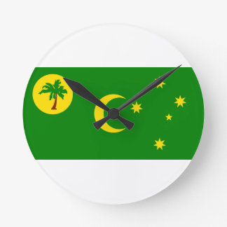 Low Cost! Cocos Island Flag Round Clock