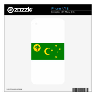 Low Cost! Cocos Island Flag Skins For iPhone 4S
