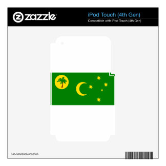 Low Cost! Cocos Island Flag Skins For iPod Touch 4G