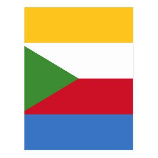 Low Cost! Comoros Flag Postcard