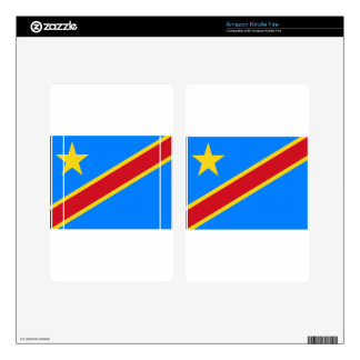 Low Cost! Congo Flag Decal For Kindle Fire